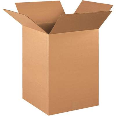"Shipping Carton, Kraft, Inside Width 15"", Inside Length 15"", Inside Depth 24"", 65 lb., 1 EA"