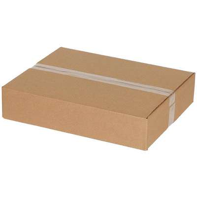"Shipping Carton, Kraft, Inside Width 12"", Inside Length 20"", Inside Depth 4"", 65 lb., 1 EA"