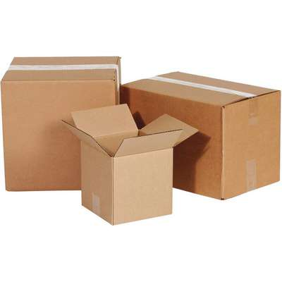"Shipping Carton, Kraft, Inside Width 12"", Inside Length 20"", Inside Depth 10"", 65 lb., 1 EA"