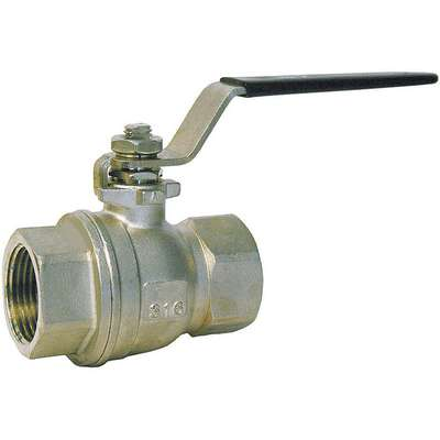 "316 Stainless Steel FNPT x FNPT Ball Valve, Lever, 1/2"" Pipe Size"