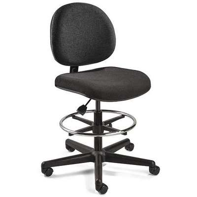 "Black Fabric Task Chair 15"" Back Height, Arm Style: No Arm"