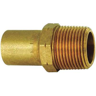 "Low Lead Bronze Adapter, FTG x MPT Connection Type, 1/2"" x 3/8"" Tube Size"