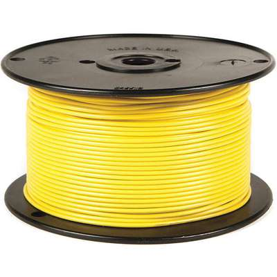 100 ft. GPT, PVC Primary Wire with 1 Conductor(s), 22 AWG Wire Size, 60V Max. Voltage; Yellow