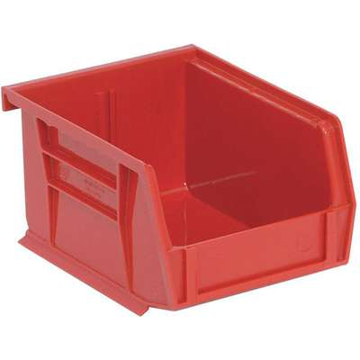 "Hang and Stack Bin, Red, 5"" Outside Length, 4-1/8"" Outside Width, 3"" Outside Height"