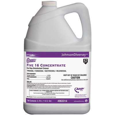 Disinfectant Cleaner, 1 gal. Jug, Unscented Liquid, Ready to Use, 1 EA