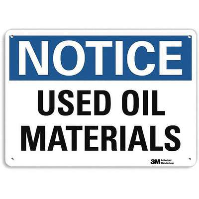 Recycled Aluminum Chemical Identification Sign with Notice Header, 10 in. H x 14 in. W