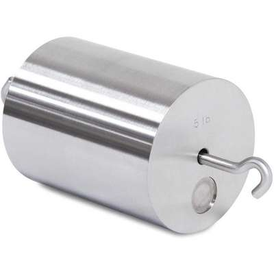 5 lb. Calibration Weight, Hook Style, Class 6, Traceable - Accredited, Stainless Steel