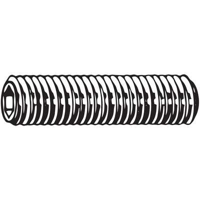 M15 x 20mm Steel Socket Set Screw with Black Oxide Finish; PK25