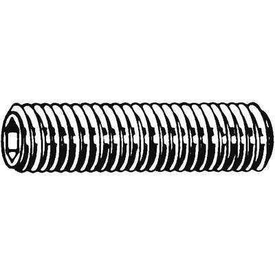 20mm A2 Stainless Steel Socket Set Screw with Plain Finish; PK10