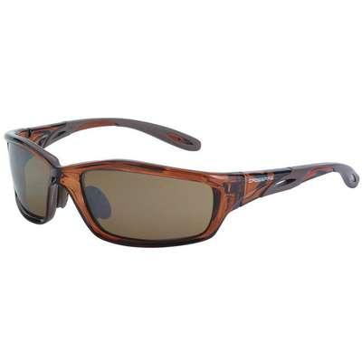 Crossfire Scratch-Resistant Safety Glasses , Brown Lens Color