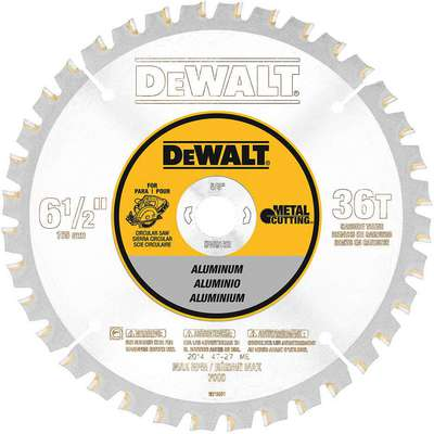 "Dewalt DW9152 6-1/2"" Carbide Metal Cutting Circular Saw Blade, Number of Teeth: 36"
