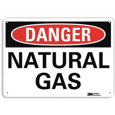 Recycled Aluminum Chemical Identification Sign with Danger Header, 7 in. H x 10 in. W