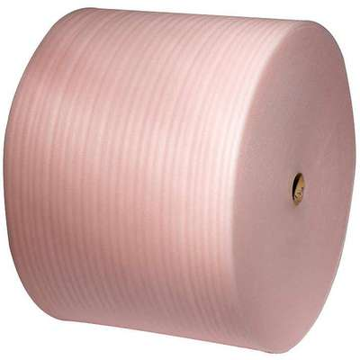 "Antistatic Foam Roll, 24""W x 550 ft., Pink, Perforated: Yes, Perforation Increments: 12"""