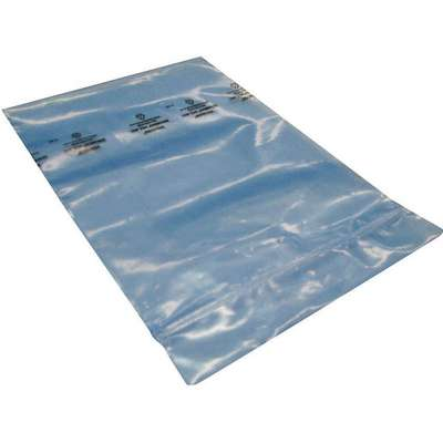 "18""L x 12""W VCI Reclosable Poly Bag with Zip Seal Closure, Blue; 4 mil Thickness"