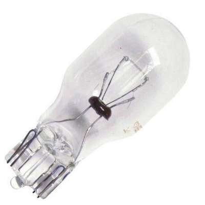 Glass Wedge Mini Bulb, Trade Number 916, 7 Watts, T5, Clear, 14 V