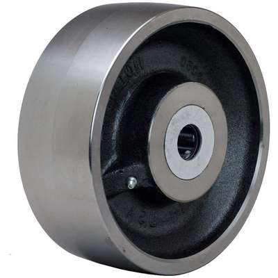 "8"" Caster Wheel, 14,000 lb. Load Rating, Wheel Width 3"", Steel, Fits Axle Dia. 1"""