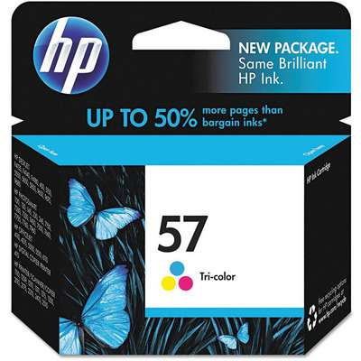HP Ink Cartridge, No. 57, Tri-Color