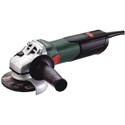 "Angle Grinder, 4-1/2"" Wheel Dia., 9 Amps, 120VAC, 10,500 No Load RPM, Slide Switch"