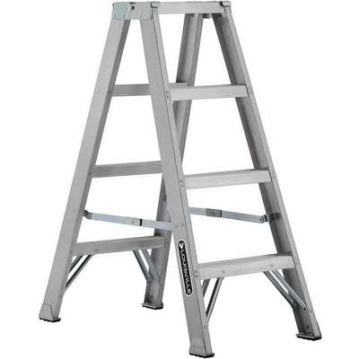 4 ft. 300 lb. Load Capacity Aluminum Twin Stepladder