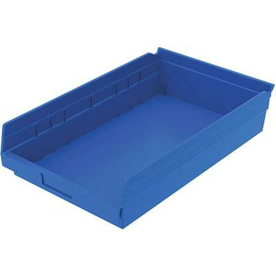 "Shelf Bin, Blue, 4""H x 17-7/8""L x 11-1/8""W, 1EA"