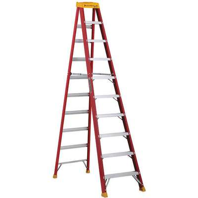 10 ft. 300 lb. Load Capacity Fiberglass Stepladder