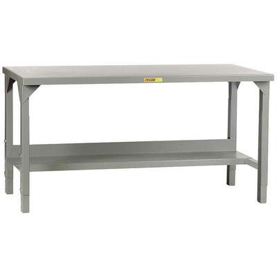 "Bolted Workbench, Steel, 24"" Depth, 27"" to 41"" Height, 60"" Width, 4500 lb. Load Capacity"