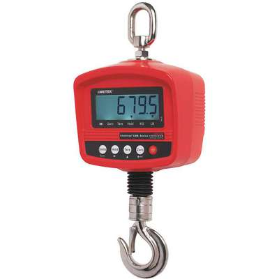 660 lb. Capacity Crane Scale, +/- 0.2% Scale Accuracy, 100g/0.2 lb. Scale Graduations