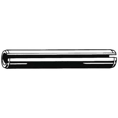"Steel Slotted Spring Pin, 1-1/4"" L, Zinc Plated Fastener Finish"
