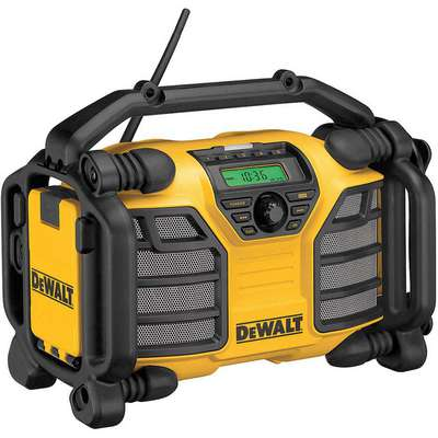 Dewalt DCR015 Jobsite Charger Radio, 12.0 and 20.0 Voltage, Bare Tool