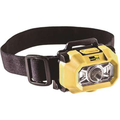 LED Headlamp, Plastic, Maximum Lumens Output: 200, Yellow