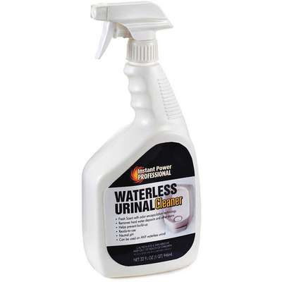 Waterless Urinal Cleaner, 32 oz. Trigger Spray Bottle, Unscented Liquid, Ready To Use, 1 EA