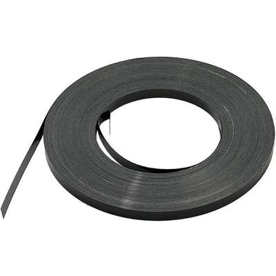 "Steel Strapping, Steel, Black, 3/4"" Strapping Width, 0.029"" Strapping Thickness"