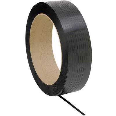 "Standard Duty, Plastic Strapping, Machine Strapping, 5/8"" Strapping Width, 0.0250"" Thickness"