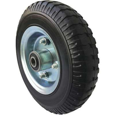 "Flat-Free Solid Rubber Wheel, 4-3/4"" Wheel Dia., 280 lb. Load Rating"