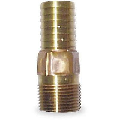 "Red Brass Male Adapter with Straight Fitting Style, 1"" Thread Size"