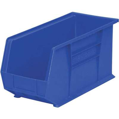 "Hang and Stack Bin, Blue, 18"" Outside Length, 8-1/4"" Outside Width, 9"" Outside Height"