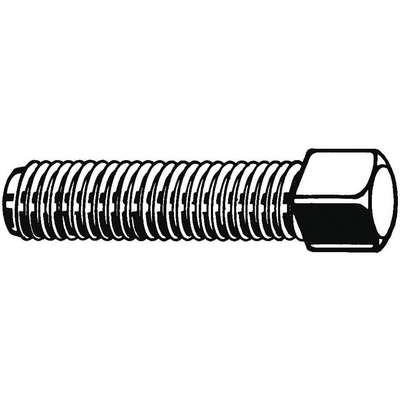 "1/2"" 1018-1022 Carbon Steel Set Screw with Plain Finish; PK100"