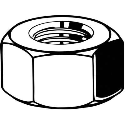 M30-3.50 Hex Nut, Zinc Plated Finish, Class 8 Steel, Right Hand, DIN 934, PK45