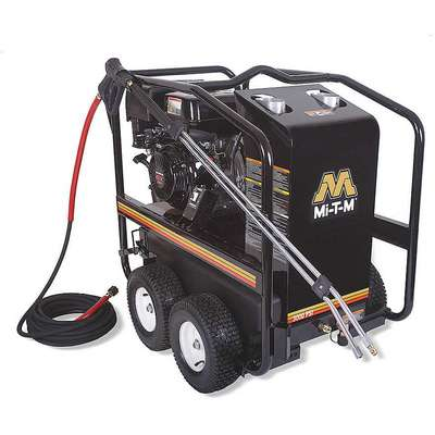 Heavy Duty (2800 to 3299 psi) Gas Cart Pressure Washer, Hot Water Type, 2.8 gpm, 3000 psi