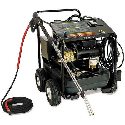 Light Duty (0 to1999 psi) Electric Cart Pressure Washer, Hot Water Type, 2.0 gpm, 1500 psi