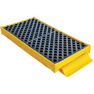 UltraTech® 66 gal. Polyethylene Ultra Spill Deck for 2 Drums; Drain Included: Yes