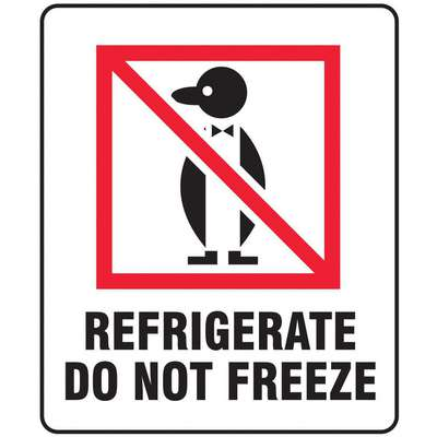 "Shipping Labels, Refrigerate Do Not Freeze, Paper, 3"" Width, 4"" Height, PK 500"