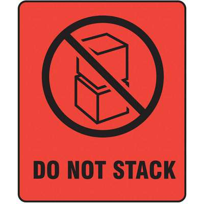 "Shipping Labels, Do Not Stack, Paper, 3"" Width, 4"" Height, PK 500"