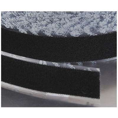 "Loop-Type Reclosable Fastener with Acrylic Adhesive, Black, 2"" x 75 ft., 1EA"