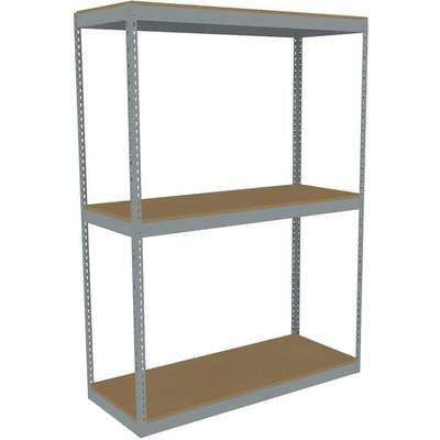 "Starter Boltless Shelving with Particle Board Decking, 3 Shelves, 60-5/8""W x 24-5/8""D x 84""H"