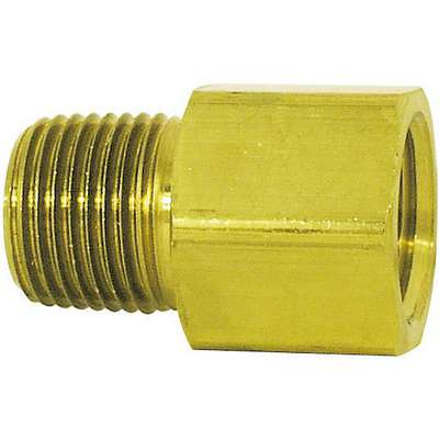 "Brass Pipe Adapter, 3/8"" Pipe Size, 10 PK"