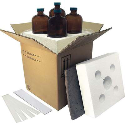 "Kraft Hazardous Material Shipping Kit, 10-1/2""D x 10-1/2""W x 11-3/16"" L , Holds :(4) 32 oz. Bottles"