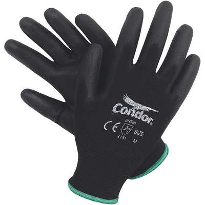 Coated Gloves, XL, Palm, Polyurethane Glove Coating Material, 1 ANSI/ISEA Abrasion Level, 1 PR