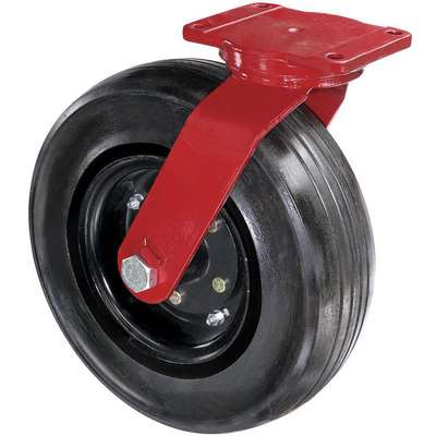 "16"" Medium-Duty Sawtooth Tread Swivel Solid Rubber Caster, 2900 lb. Load Rating"