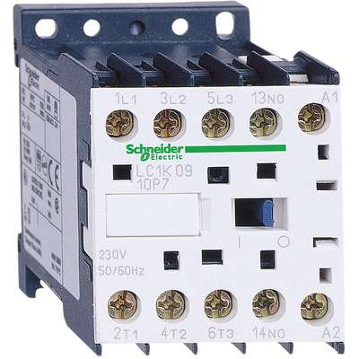 24VAC Miniature IEC Magnetic Contactor; No. of Poles 3, Reversing: No, 9 Full Load Amps-Inductive
